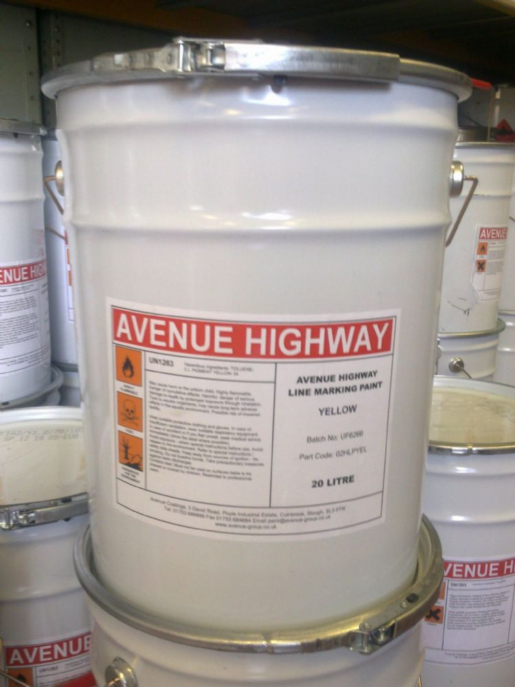 Avenue Chlorinated Rubber Line Marking Paint 5 Litres